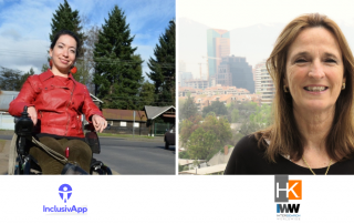 Karla Araya, cofundadora de InclusivApp, y Leslie Cooper, directora ejecutiva y fundadora de HK.